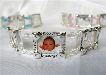 photo bracelet - white hearts