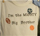 funny t-shirt - I am the mighty big brother