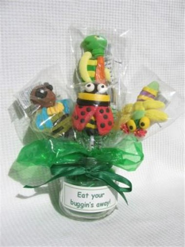 edible candy bouquet - eat your buggin's away