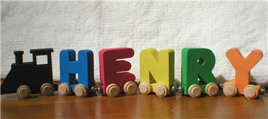 Unique baby gifts personalized new born baby shower gift ideas wooden name trains negle Gallery