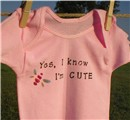 funny t-shirt - yes I know I am cute