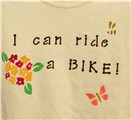 self esteem building t-shirt - I can ride a bike (girl)
