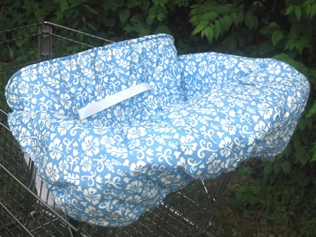 shopping cart cover oahu blue